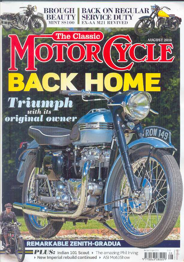 The Classic Motorcycle - 46-08 - August 2016